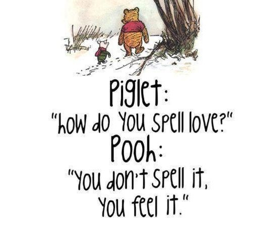 Piglet with love